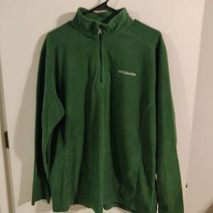 Men's fleece green Columbia half zip